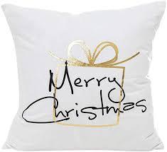 strung frohe weihnachten gold foil printing kissenbezug sofa