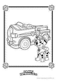 Coloriage De Pat Patrouille Marcus Et Son Camion De Pompier La