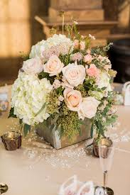 Floral Centerpiece Rustic Country Wedding In Blush Navy Meet The Burks Photography