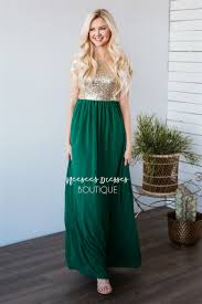 jewel green gold sequin maxi dress beautiful modest bridesmaids