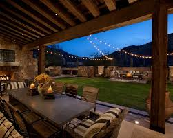 Decoration in Backyard String Light Ideas Decorative Outdoor