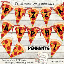 Ninja Turtle Decorations Nz by Pizza Party Banner Printable Pizza Alphabet Garland Print