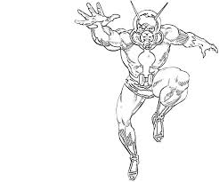 Coloring Page Ant Man Superheroes 21