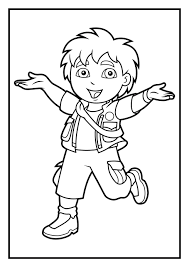 Download Coloring Pages Dora Diego Pictures