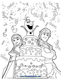 Kristoff Anna Olaf Surprise Birthday Colouring Page Coloring Pages Printable And Book To Print For Free Find More Online Kids