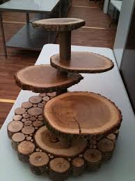 Cupcake Table Displays Wooden Wedding Cake Stands