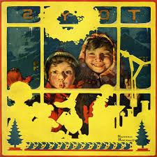 Children Looking In Toy Store Window Canvas