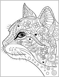 Adult Colouring Cats Dogs Image Gallery Cat Coloring Book Pages