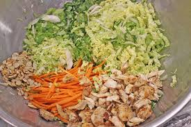 Chinese Chicken Salad Ingredients Ready To Mix
