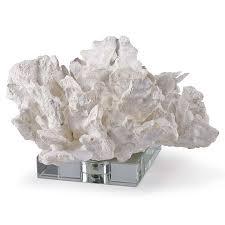 regina andrew design white cabbage coral on crystal candelabra inc