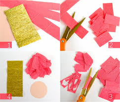 Cut 3 Strips Of Crepe Paper Approximately 1 2 25 35mm Wide From The Desired Petal Colour For Your Flower