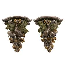 100 Century 8 Noho Rare Pair Of French Giltwood Wall Brackets