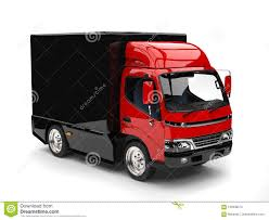 Small Red And Black Box Truck Stock Illustration - Illustration Of ...