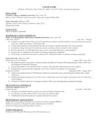 100 Education On A Resume Free Higher Sample Templates At