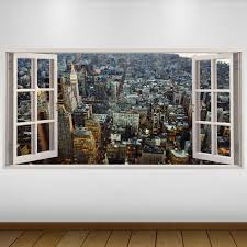 EXTRA LARGE Aerial View City New York 3D Vinyl Wall Art Decal Sticker Poster
