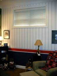 GO CUBS A Wrigley Field Inspired Bedroom Three Pinstriped Walls And The 4th