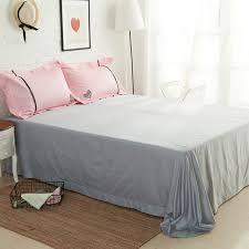line Shop 4pcs  Cotton 60S Sateen fabric girls pink bedding