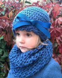 prar gorro lazo ni±a de 3 a 6 a±os de lana azul³n