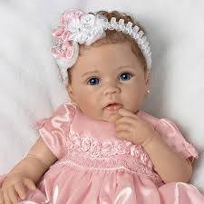 The AshtonDrake Galleries Princess Lifelike Weighted Vinyl Baby