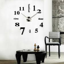 details zu wanduhr spiegel deko wandtattoo 3d diy design großes wanduhr wohnzimmer schwarz