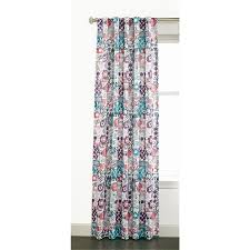 Kohls Sheer Curtain Panels by Shop Style Selections Adrian 84 In Multi Polyester Back Tab Sheer