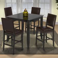 New Classic Style 19 Small Pub Table And Upholstered Chairs ...