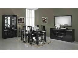 salle a manger complet salle a manger complete pisa laquée bicolore noir blanc