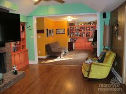 Mid Century Great Room Vintage Living