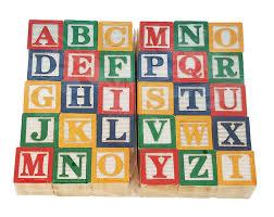 Amazon Skoolzy 30 Wood Alphabet Blocks Stacking ABC Letter