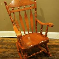 Vintage Wood Rocking Chair | EBay Vintage Thonetstyle Bentwood Cane Rocking Chair Chairish Thonet A Childs With Back And Old Trade Me Past Projects Rjh Collection Outdoor Chairs Cracker Barrel Country Hickory For Sale Victorian Walnut Ladys At 1stdibs Antique Wooden With Wicker Seats Thing Early 1900s Maple Lincoln Rocker Pair French Provincial Accent Peacock Lounge Good In White