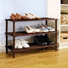 Mainstays 3 Tier Wood Shoe Rack