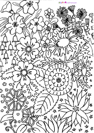 Great Hard Coloring Pages Of Flowers 58 On For Adults With
