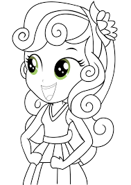 Sweetie Belle From My Little Pony Equestria Girls Coloring Page
