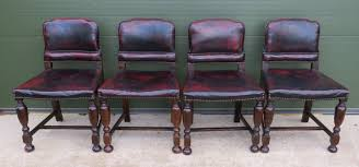 Set Of 4 Vintage Art Deco Leather Dining Chairs - 18474 ... Art Deco Ding Set Buyfla Art Deco Ding Room Chairs Fniture French Style Set Large Chair Products In 2019 Metal Bed Frame Modern Uk Table And Chairs For Sale Strathco Custom Upholstered Of 8 Antique Burr Ref No 03979 Regent Antiques Style Fniture Alargaco English Leather Newel 1930s Vintage 6 1940s Ebony Stained Oak Decostyle With Vase Shaped Legs Descgarappvnonline