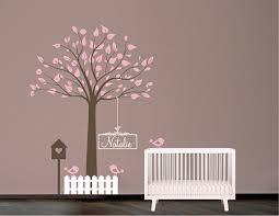 pochoir chambre bébé pochoir mural arbre avec oiseaux nichoir et nom pochoir mural