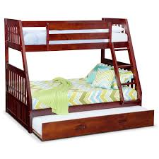 ranger merlot twin full bunk bed with trundle american signature
