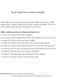 Legal Clerk Resume Medical Records Sample For Assistant Resumes