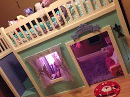 ana white full size playhouse loft bed with storage stairs diy
