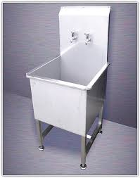stainless steel utility sink with drainboard home design ideas