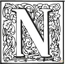 Letter N Kleurplaat Gratis Kleurplaten Printen Alfabet Letters 65