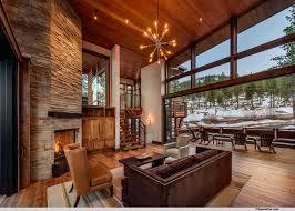 Mountain Modern Lodge Transitional Living Room