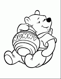 Spectacular Winnie Pooh Coloring Pages With And Halloween