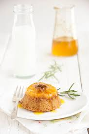 Butterscotch Clementine Upside Down Cakes With Rosemary Orange Syrup