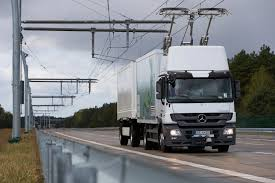 100 German Trucks First Overhead Contact Line To Charge Moving Electric Trucks Is