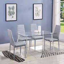 goldfan esstisch mit 4 stühlen moderner rechteckiger