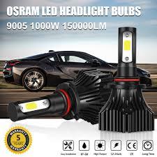 osram 9005 hb3 led 1000w 150000lm headlight bulbs high beam high
