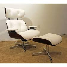 Mid Century Danish Modern Selig Eames Leather Swivel Lounge Chair