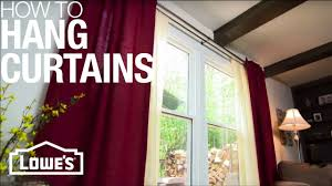 Allen Roth Curtain Rod Instructions by How To Hang Curtains Youtube