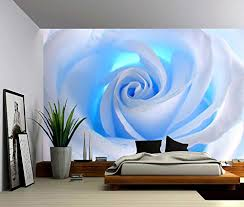 picture sensations canvas texture wall mural blue rose f https