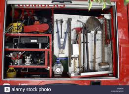 99 Truck Tools On Fire Truck Stock Photo 61173523 Alamy